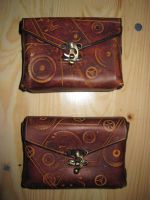 Steampunk belt bag by akinra-workshop