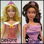 repainted ooak meg from hercules doll. by verirrtesIrrlicht