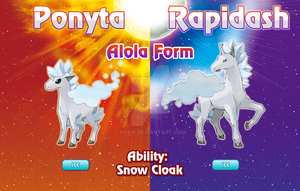 Ponyta and Rapidash Alola Forms by SM136