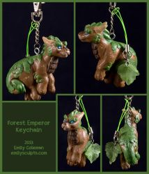 Forest Emperor Keychain by emilySculpts