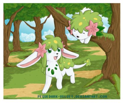 SHAYMIN I CAN SEE YOU by PEQUEDARK-VELVET