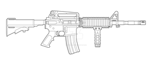 Colt M4 Lineart by MasterChiefFox