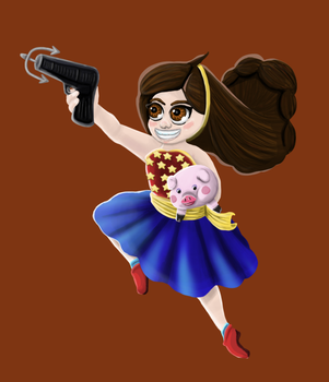 Mable As Wonder Woman by wingedhatchling