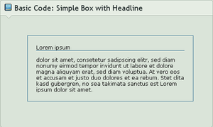 .:Code Basics: Simple Box by GinkgoWerkstatt