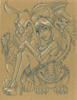 Alice Sketch Sesssion 7_27 by CaziTena