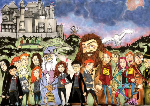The Harry Potter Crew by wheels9696