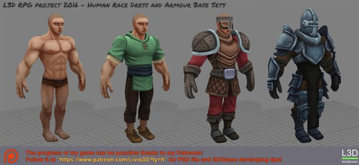 Human Dress/Armour Set by Livius3d