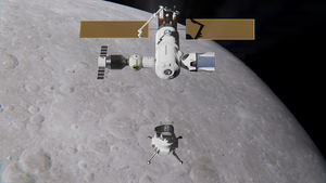 Boeing Lunar Lander Undocks from DSG by brickmack