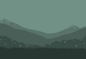 Pacific Mountain Range MSPaint Background (Small) by Birritan