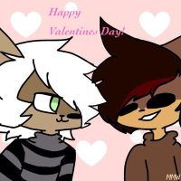 The Two Lovebirds {Happy Valentines!} by MysticMoonWolfXD