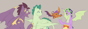 Spike's pegasi kids by Pikokko