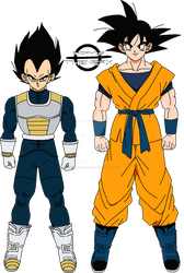 Goku and Vegeta (DBSNL Outfit)- Shintani Style by Anorkius-TheNERX