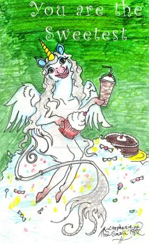 You are Sweetest Valentine Winged Unicorn Candy by StephanieSmall
