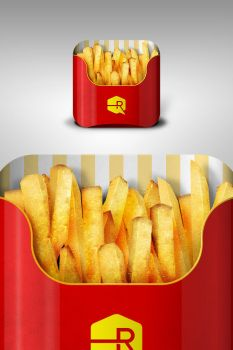 French Fries iOS App Icon by TheRyanFord