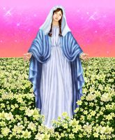 virgin mary virgen maria by kittychiii