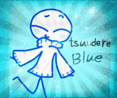 tsundere blue in sweater by pian-no
