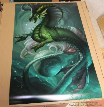 Zodiac Dragon . Capricorn 24x36 Movie Poster Print by The-SixthLeafClover