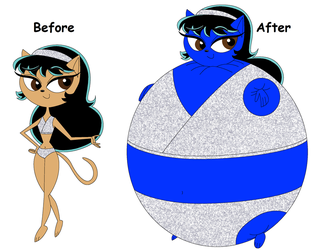 Blueberry Kristina Kittensworth: Before and After by blbr