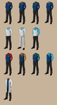 Star Trek Uniforms by samuriplatypus
