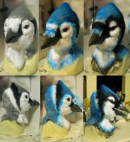 airbrushing lineup for the bluejay by Crystumes