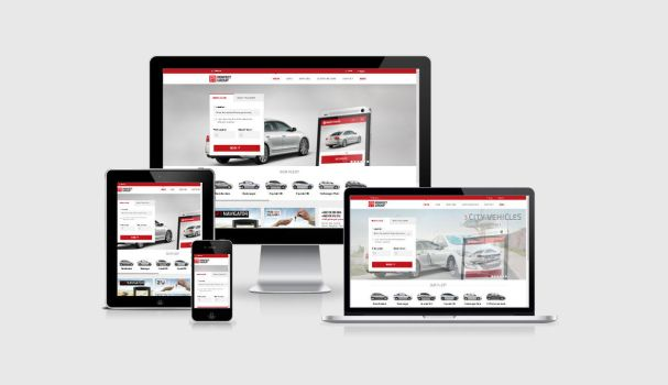 Perfect Group rent a car website by shapemetal