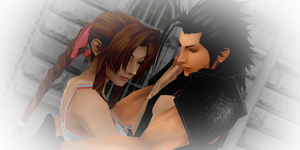 ~Aerith and zack~ by MMDKasumi2140