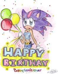 Happy Birthday Babysoniclover by ROSE-DUST
