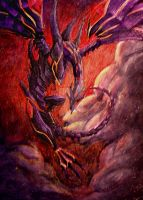 Red Eyes Darkness Dragon by GTAceofSpade