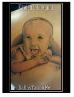 Baby Color Portrait Tattoo by kayden7