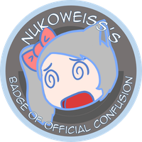 NUKOxRWBY - Officially Confused Badge by geek96boolean10