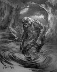 The Creature From The Black Lagoon by cmalidore