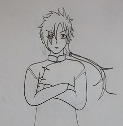 Lineart - my first anime guy by 1a2l3i2v1e
