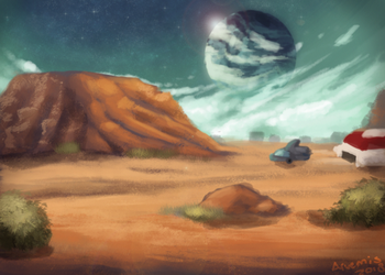 Comic concept for a Desert planet by Arvemis