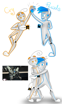 PewDiePie and Cry [Portal 2] by Dragon-RainbowBeanie