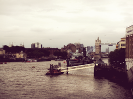 Tower Bridge and the Thames. by raiining-day