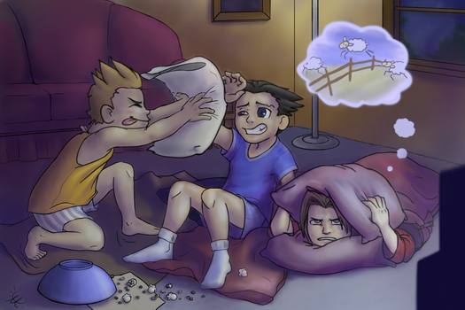 Ace Attorney: Slumber Party by Ayemae