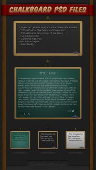 iBullz ChalkBoard PSD Files... by BullzArtDesign
