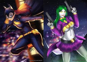 Batgirl (before-after) by HaryuDanto