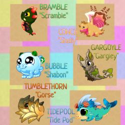 DragonVale - Cute New Dragons by Dark-Anmut