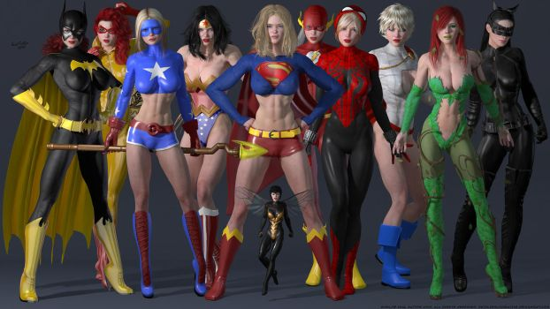 The Superheroine Studio Collection by DevilishlyCreative