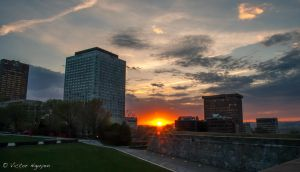 Sunset Quebec City by OrigamiChemist