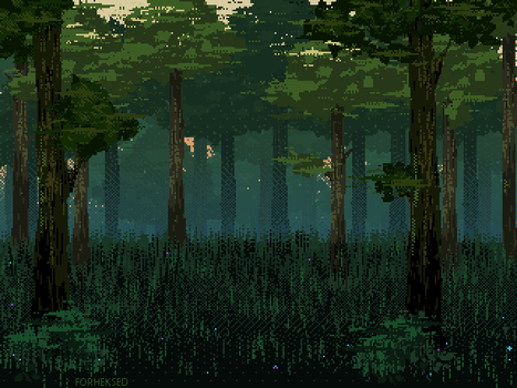 Evening in the coniferous forest by Forheksed