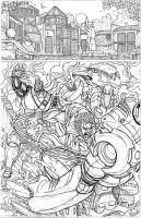 ULTIMATE X-MEN WOLVERINE AND COLOSSUS PAGE 001 by nathanscomicart