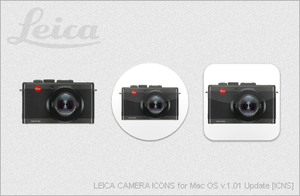 LEICA CAMERA ICONS for Mac OS v1.01 Update [ICNS] by EZBOI