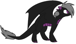 Dark Dragon Adopt by RoseandherThorns