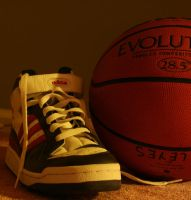 old shoe and basketball by liza12
