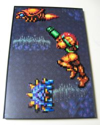 Perler Super Metroid Scene by Dlugo1975