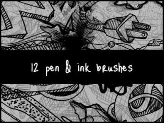 Pen and Ink Brushes by spandexcrusader
