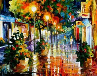 Wander After The Rain by Leonid Afremov by Leonidafremov