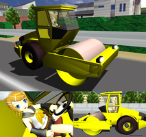 MMD Rin's Road Roller by Trackdancer
